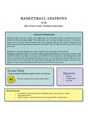 Basketball stations for second and third graders