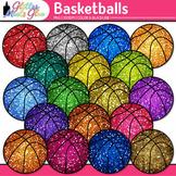 Rainbow Basketball Clip Art {Sports Equipment for Physical Education Teachers}