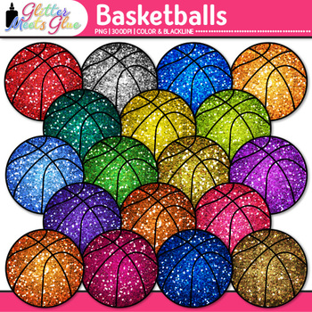 Rainbow Basketball Clip Art {Sports Equipment for Physical Education Teachers}