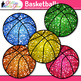Rainbow Basketball Clip Art {Sports Equipment for Physical