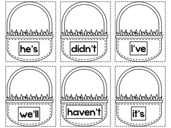 Baskets of Contractions~FREEBIE!