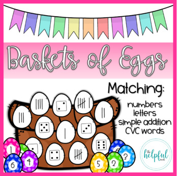 Baskets of Eggs - Matching varied skills (Color + B/W)
