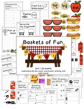 Baskets of Fun - Unit 1, 6 week Reading activites