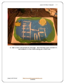 Basquiat Inspired Art Lesson 2 Buildings Teach Grades K-6 Art History Project