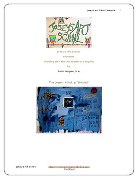 Basquiat Inspired Art Lesson 2 Buildings Teach Grades K-6 Art History Project