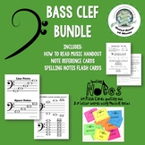 Bass Clef BUNDLE: How to Read and Practice Bass Clef Distance Learning