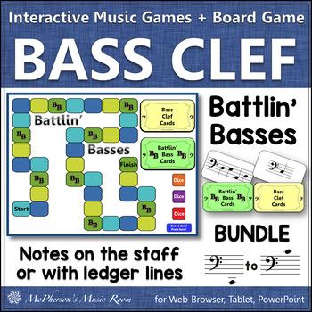 Bass Clef Note Names Bundle Interactive Music Game {Battlin' Basses}