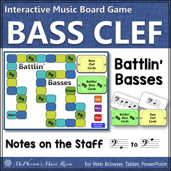 Bass Clef: Battlin' Basses Level 1 (PowerPoint game for re