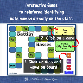 Bass Clef Battlin' Basses with Ledger Lines {Interactive Music Game}