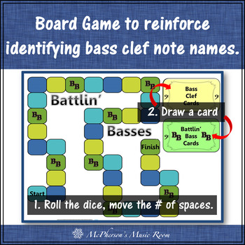 Bass Clef Note Names Music Board Game {Battlin' Basses}