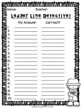 Bass Clef Detective:  Ledger Lines