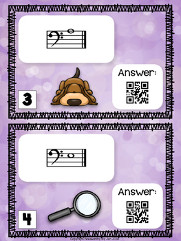 Bass Clef Detective:  Notes