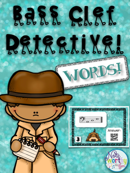 Bass Clef Detective:  Words