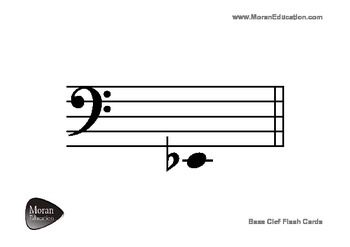 Bass Clef Flash Cards