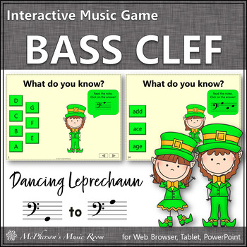 Bass Clef Interactive Music Game {Dancing Leprechaun}