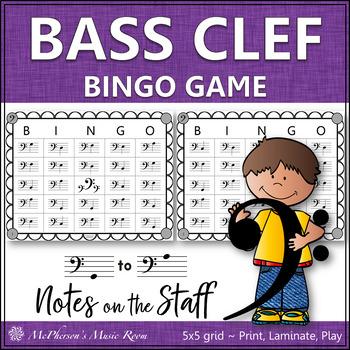 Bass Clef Music Bingo Game
