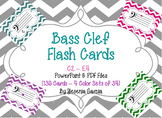 Bass Clef Music Flash Cards - Powerpoint & PDF
