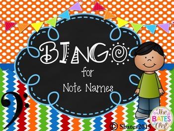 BINGO Bass Clef Note Names