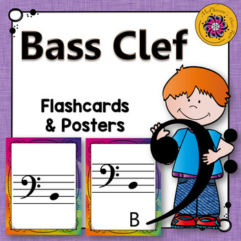Bass Clef Note Name Flash Cards
