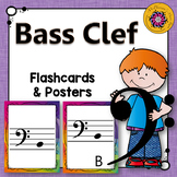 Bass Clef Note Name Flashcards & Music Room Décor