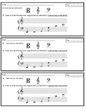Bass Clef Note Names (Ledger lines included) - Assessment Slip