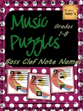 Bass Clef Note Reading Puzzle