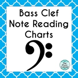 Bass Clef Note Reading charts