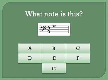 Bass Clef Note Recognition Interactive Game