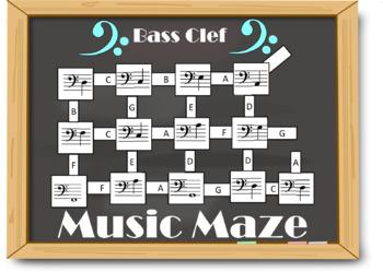 Bass Clef Notes - Music Maze!