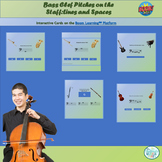Bass Clef Pitches on the Staff with Boom Cards™