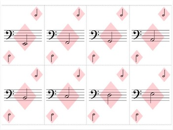 Bass Clef Playing Cards