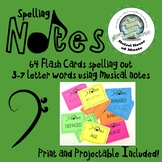 Bass Clef Music Note Spelling Flash Cards