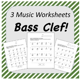 Bass Clef Worksheets