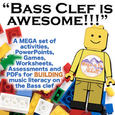 Bass Clef is Awesome: a MEGA Set of Building Activities for the Bass Clef