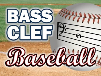 Bass Clef Baseball Powerpoint Game for Music Class