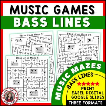 Bass Lines Music Maze Puzzles