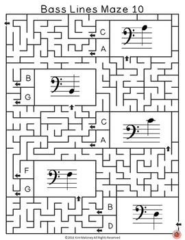 Music Games: Bass Lines Maze Puzzles