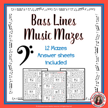 Bass Lines Music Maze Puzzles