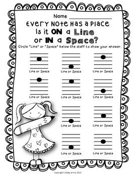 Music Worksheets - Staff Bundle