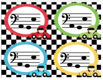 Bass Race: A bass clef relay race