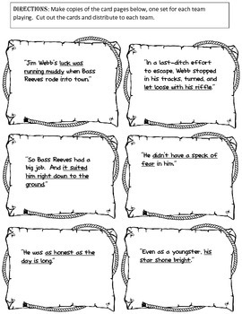 Bass Reeves Literary Packet for Grades 3-6