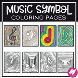 Music Coloring Sheets: Music Symbol Coloring Pages