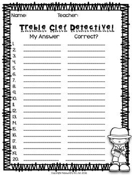 Bass and Treble Clef Detective:  Big BUNDLE