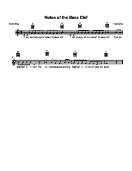 Bass clef note names song