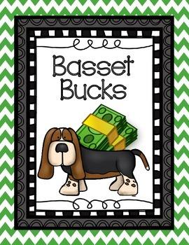 Basset Bucks - Classroom Management - Classroom Economy - Color/B&W