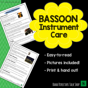 Bassoon Instrument Care