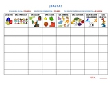 Basta (Scattergories) game for Spanish class