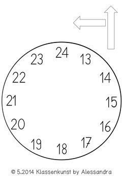 bastelvorlage uhr clock template by klassenkunst tpt. Black Bedroom Furniture Sets. Home Design Ideas