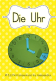 Bastelvorlage Uhr // Clock template