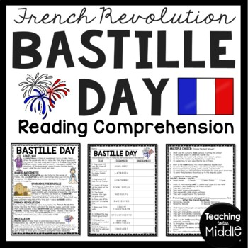Bastille Day Article, Questions, French/European History ,
